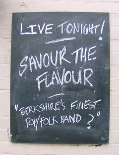 Live Tonight. Savour The Flavour